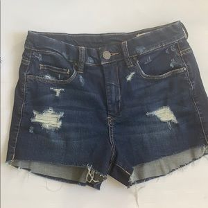 Blank NYC size 26 blue jean wedge shorts